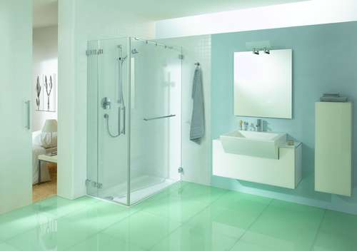 xxl duschen lassen kleine b der gr er wirken wohnen. Black Bedroom Furniture Sets. Home Design Ideas