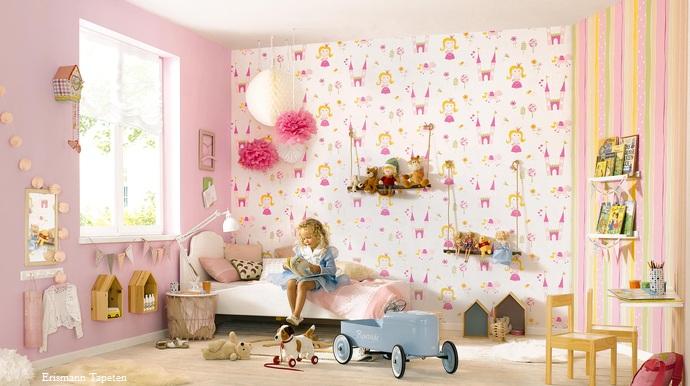Kinderzimmer gestalten mit Tapeten und Bordüren > Wohnen