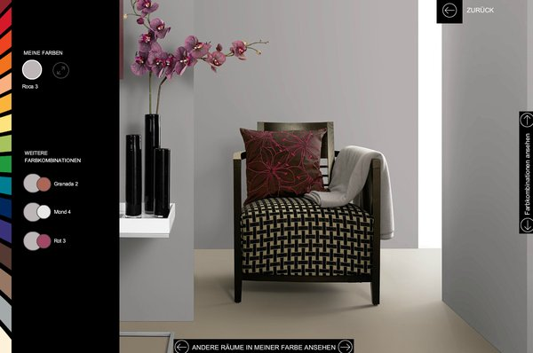 farbliche raumgestaltung online planen wohnen. Black Bedroom Furniture Sets. Home Design Ideas