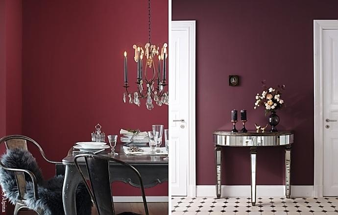 Rote Wände Schaffen In Wohnräumen Die Balance Zwischen Stilvoller Eleganz  Und Einladender Gemütlichkeit. Und Für Alle, Die Dramatik, Vitalität Und  Energie ...