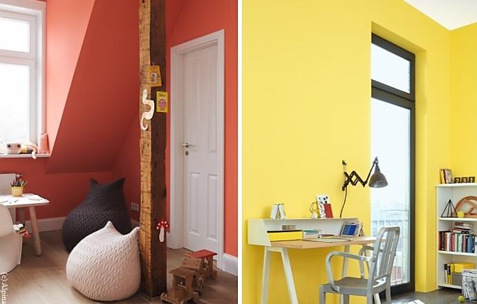 wandfarben in gelb und orange wirken freundlich und belebend wohnen. Black Bedroom Furniture Sets. Home Design Ideas