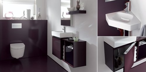 badezimmer ideen g ste wc pictures to pin on pinterest. Black Bedroom Furniture Sets. Home Design Ideas