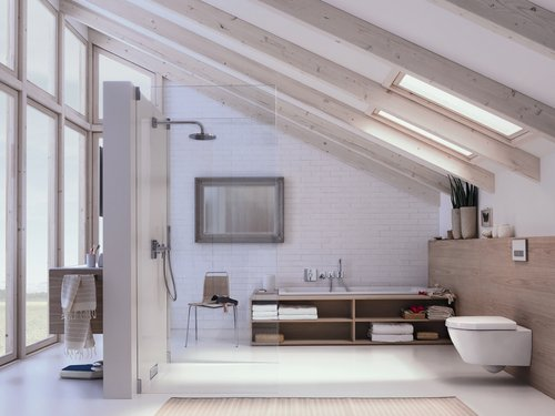 modernes bad wohnen. Black Bedroom Furniture Sets. Home Design Ideas
