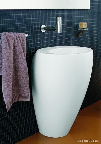 s ulen waschbecken wirken wie skulpturen im bad wohnen. Black Bedroom Furniture Sets. Home Design Ideas