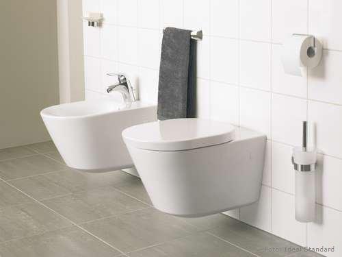 mit den sanft geschwungenen linien machen toilette und bidet bereits. Black Bedroom Furniture Sets. Home Design Ideas