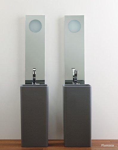 Waschbecken mit s ule modern aus keramik 540mm pictures for Waschbecken bad modern