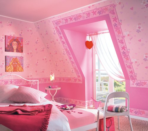 kinderzimmer w nde f r m dchen rosa die neuesten. Black Bedroom Furniture Sets. Home Design Ideas