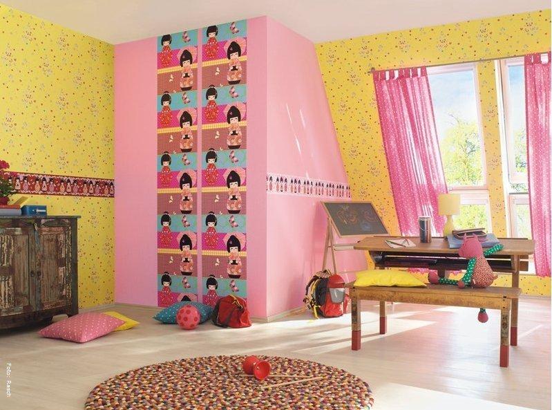 kinderzimmer gestalten mit tapeten und bord ren wohnen. Black Bedroom Furniture Sets. Home Design Ideas