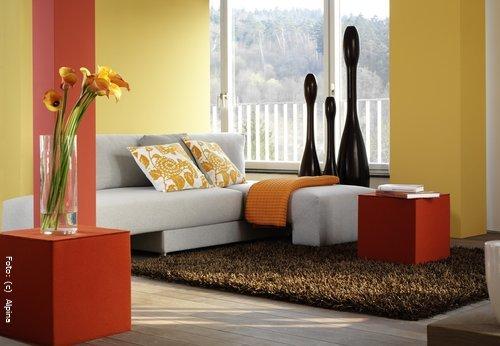 Wohnzimmer farben gelb
