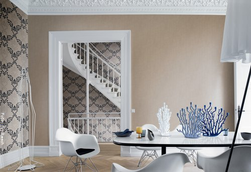 Wandgestaltung Schlafzimmer Mit Tapeten : tapeten grun und braun bilder : beige und braun wohnzimmer mit beige