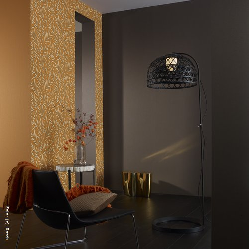 wandgestaltung wohnzimmer naturtone ~ raum- und möbeldesign