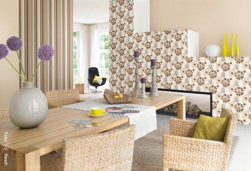 tapeten naturtoene verbreiten behaglichkeit wohnen. Black Bedroom Furniture Sets. Home Design Ideas