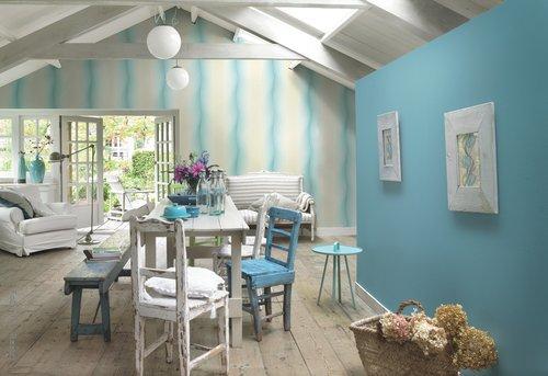 Jugendzimmer Tapeten T?rkis : Romantische Tapeten in zarten Farben und lieblichen Designs > Wohnen