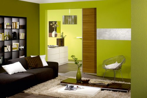 Grün Gold Wandfarbe Wohnzimmer – ElvenBride.com