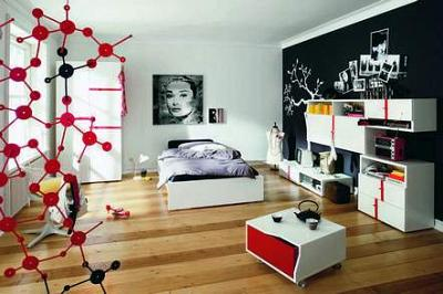 neues jugendzimmer wandfarbe neue moebel. Black Bedroom Furniture Sets. Home Design Ideas